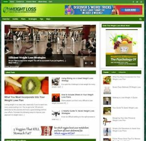 Premium Weight Loss Blog For Sale turnkey Affiliate Website To Make Money Online