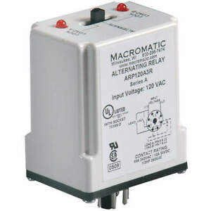 Macromatic Alternating Relay 24vac dpdt Cross wired Arp024a3r