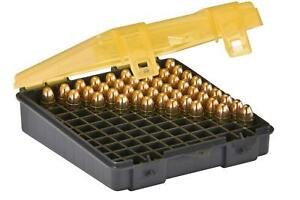 Ammo Bullet Case Box Storage 100 Count Handgun for .41mag .44mag .45 long colt