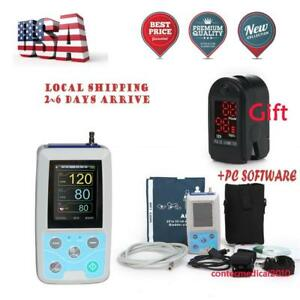 24hours Ambulatory Blood Pressure Monitor Holter Abpm Sphygmomanometer oximeter