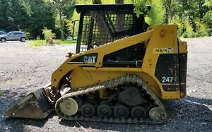 Caterpillar 247 Skid Steer Track Skid Loader 3200 Hours Uc And Tracks 50 Plus