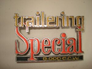 Vintage Gmc Oem Trailering Special 8 000 Gcw Car Emblem With Pins
