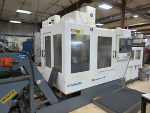 Kitamura Mycenter 4x W Auto Pallet Changer 10 Full 4th Axis Chip Conveyor