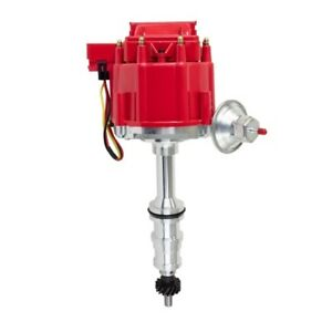 Tsp Jm6508 5r Big Block Ford Ft For 5 16 In Drive Shaft Hei Distributor Red