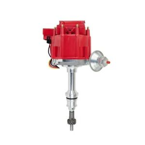 Tsp Jm6502r Small Block Ford Hei Distributor Red Cap