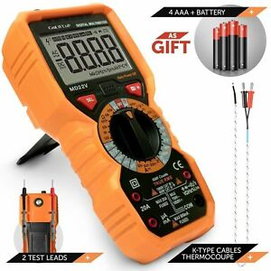 Multimeter Voltage Tester Digital Battery Circuit Automotive Temperature Freq
