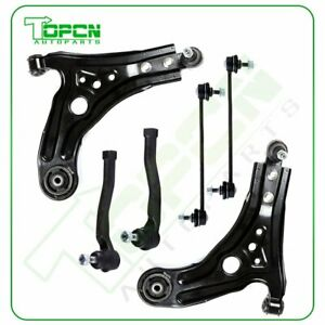 For 2004 2010 Chevrolet Aveo 6pcs Front Lower Control Arm Ball Joint Tie Rod Kit