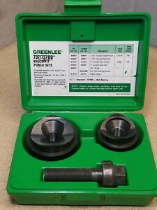 Greenlee Knockout Punch Hand Tool Set No 737 737bb Set