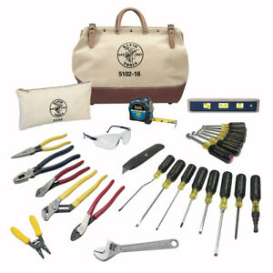 Klein Tools 28 piece Electrician Tool Set Professional Tradesman Toolkit