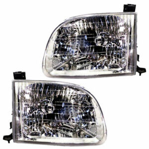 For Toyota Tundra Pair Set Left Right 00 04 Headlights Headlamps Reg Ext Cab