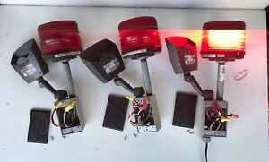 Lot Of 3 Electroflash Strobe Red Light 141st Rab Stealth Stl110 Motion Detect