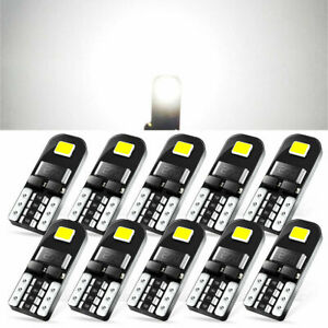 10 Canbus 2825 194 168 Interior Led Light Bulb White 2e Smd Chip Car Lamp W5w C6