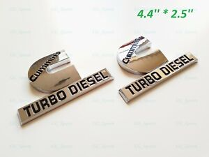4 4 Chrome Cummins Turbo Diesel Emblem Badge Fit For Dodge Ram1500 2500 3500