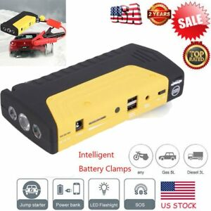 58800mah Portable Car Jump Starter Power Bank Vehicle Battery Booster Charger Us