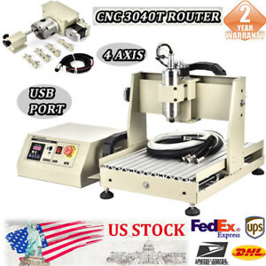 4 Axis Usb 3040 Cnc Router Engraver Cutter Millingdrilling Carver Machine 0 8kw