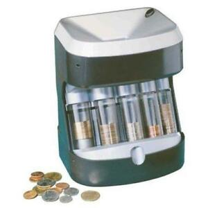Coin Sorter Counter Automatic Machine Tube Stack Count Wrapper Business New