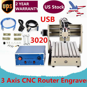 3020 Usb 3 Axis Cnc Router Engraver Milling Drilling Cutting Desktop 300w Top