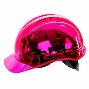 Portwest Peak View Hard Hat Vented Pink Pv50 Case Of 10