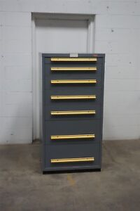 Used Equipto 7 Drawer Cabinet Industrial Tool Storage 1508 Vidmar