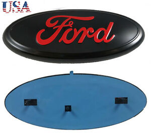 9inch Black Red F150 F150 Front Grille Tailgate Emblem Oval Badge Nameplate