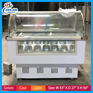 14 Pan Gelato Showcase Ice Cream Freezer Display Cases Display Cooler Depot New