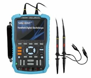 Siglent Shs810 Handheld Oscilloscope 100mhz 2 channel Multimeter Mode 5 7