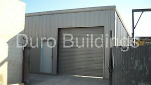 Durobeam Steel 25x30x10 Metal do It Your Self Garage Shop Building Kits Direct