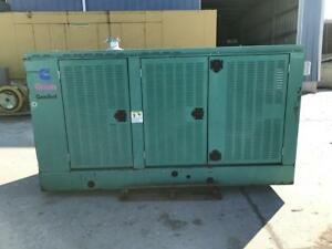 __80 Kw Cummins Onan Generator 12 Lead Only 310 Hours Enclosed With Proof