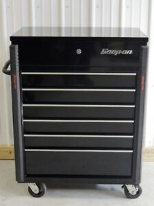 New Snap On Roll Cart Compact Six Drawers Gloss Black