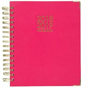 At a glance 2018 2019 Academic Year Daily Monthly Planner Large 8 7 8 X 7 3