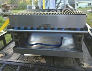 Imperial 48 Commercial Gas Char Broiler Grill On Wheels