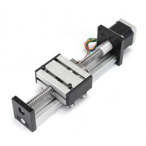 100mm Motion Ball Screw Linear Slide Sfu1204 Cnc Stroke Actuator Stepper Motor