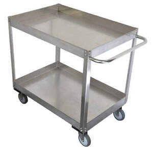 Grainge Stainless Steel Unassembled Utility Cart ss 41 L 1200 Lb 11a470 Silver