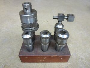 Nice Lot Of 5 Moore Tools Jig Bore Tooling Holders Incl Chandler Duplex Head