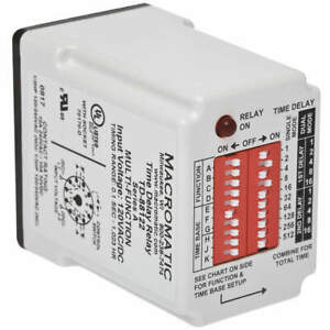 Macromatic Time Delay Relay 240vac 10a spdt Td 88161