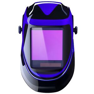 Solar Powered Welding Helmet Auto Darkening Professional Hood With Wide Lens