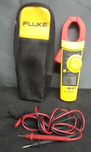 Fluke 902 True Rms Hvac Clamp Meter With Test Probe Leads Case