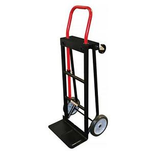 Milwaukee Hand Truck Push Car 300 500 Lb Capacity Convertible Moving Trolley