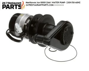 Manitowoc Ice 000012661 Water Pump 230v 50 60hz Buy Oem For Safety