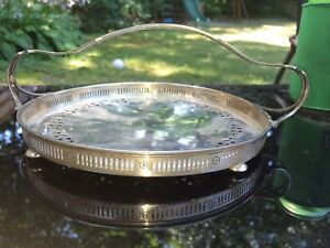 Sterling Silver Basket With Handle And Feet