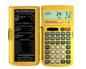 Construction Calculator Calculated Industries Graphing Yardage Design Material