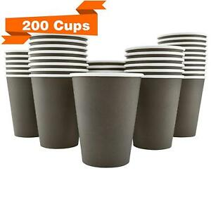Disposable Coffee Cups Hot Beverage Paper Cups Leak Free 12 Oz 200 Pack