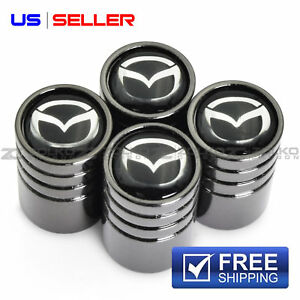 Valve Stem Caps Wheel Tire Black For Mazda Ve40 Us Seller
