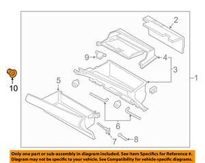 Lincoln Ford Oem 17 18 Continental glove Box Lock Gd9z5406082a