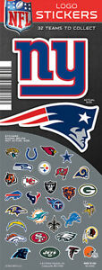 Tattoo Flat Vending Machine Capsule Toys Nfl Football Team Logo Stickers
