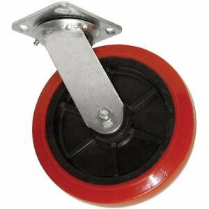 Polyurethane Caster Wheel With Swiveling Top Plate 6 inch 800 Lb Load