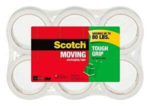 New Scotch Tough Grip Moving Packaging Tape 1 88 In X 43 7 Yd 6 Roll spack
