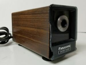 Vtg Panasonic Electric Pencil Sharpener Auto stop Kp 77a Faux Wood Tested Works