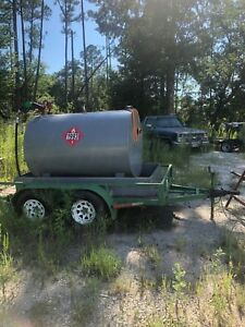 Trailer Mounted 500 Gallon Fuel Tank With Pump