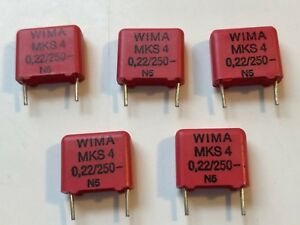 New 5pcs Wima Polyester Pulse Capacitor Mks4 22uf 250v 10 Audio